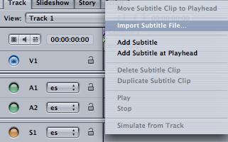 Control+clic sobre el stream de los subtítulos