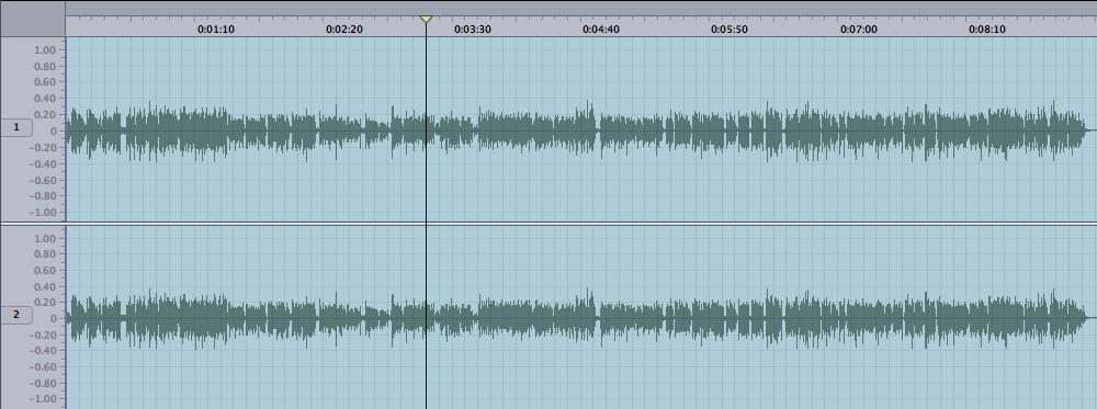 Un sonido grabado demasiado bajo puede remediarse fácilmente con la herramienta Normalizar