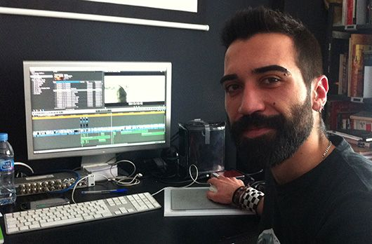 """Diego Fajardo, ayudante de montaje de """"La isla del viento""""."""