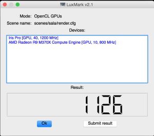 OpenCL Macbook Pro 2015