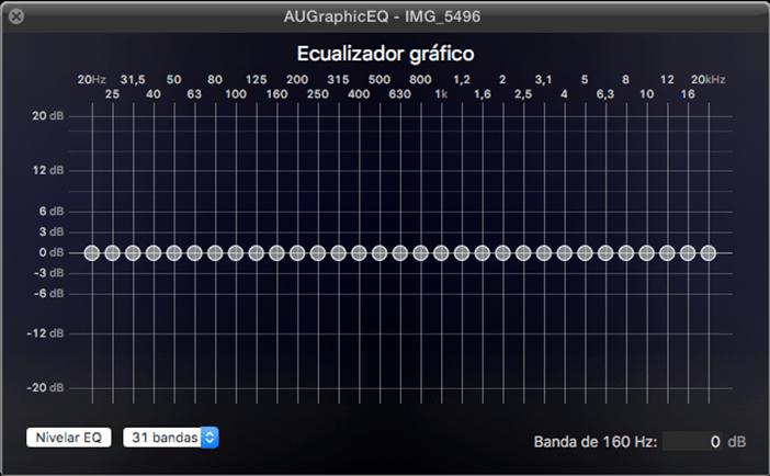 ecualizador grafico fcpx