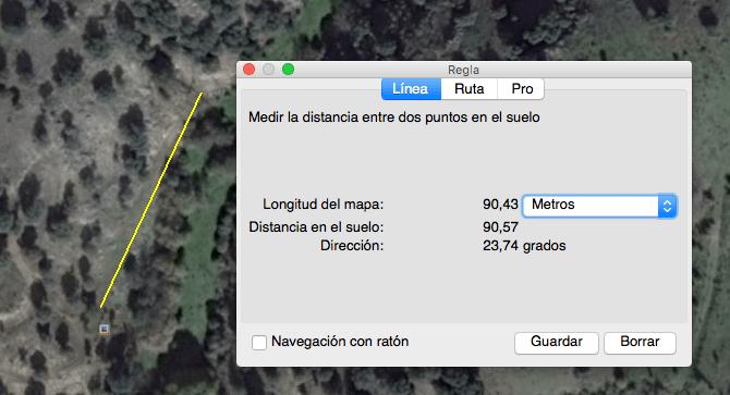 Esta es la distancia exacta que recorremos en el vídeo: 90 metros
